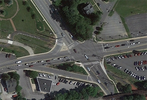 aerial view of Cleveland Ave.-Paper Mill Rd. intersection
