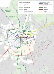 map from Newark Bicycle Plan