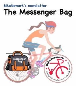 graphic header for BikeNewark's Newsletter, The Messenger Bag
