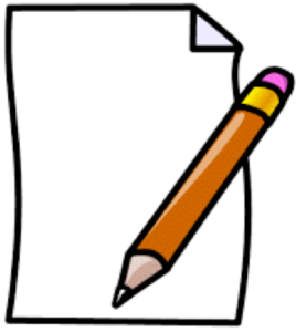 illustration of pencil and paper