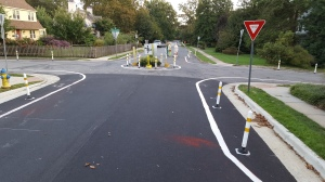 photo of completed demonstration mini-circle at Orchard Road and Winslow Road