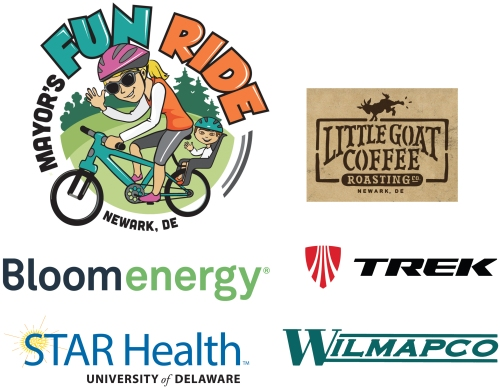 Sponsors: City of Newark Department of Parks & Recreation (Mayor's Fun Ride), Little Goat Coffee Roasters, Bloom Energy, Trek Bicycle Newark, University of Delaware STAR Health™, Wilmington Area Planning Council