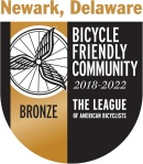 Bronze seal art from the LAB for Bicycle Friendly Community