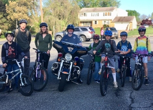 photo of participants during 2018 Bike to School Week