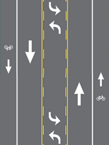 graphic of road diet configuration