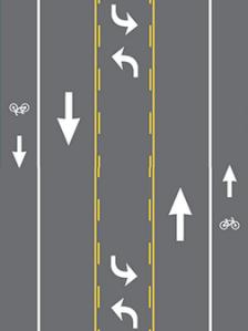 graphic of road diet configuration