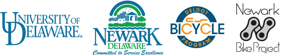 Bike to Work Day partner logos: UD, City of Newark, DelDOT, and Newark Bike Project