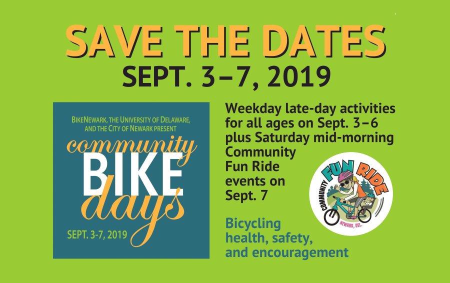 Save the Dates, Sept. 3-7, 2019, for Community Bike Days