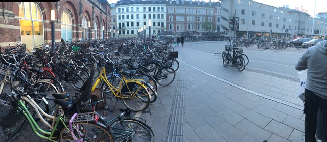 photo of bicycles in Copenhagen, Denmark