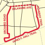 schematic map of Central Loop Bikeway