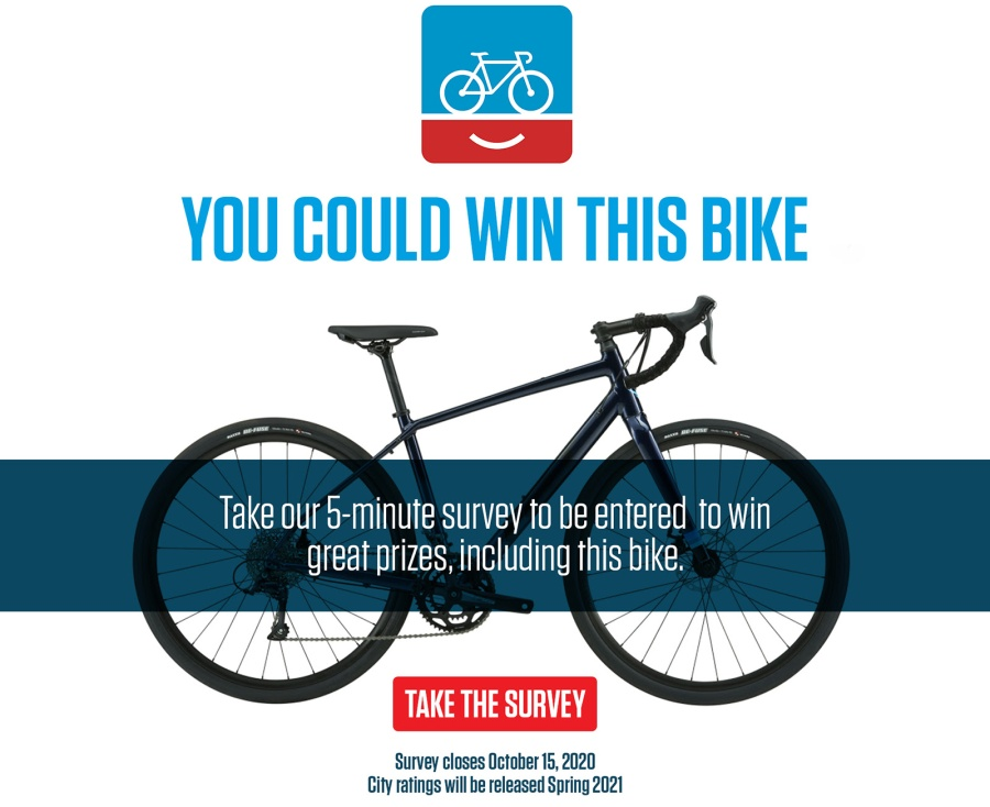 You could win this bike. Take our 5-minute survey to be entered to win great prizes, including this bike.