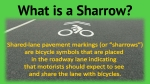 graphic showing sharrow symbol and description text