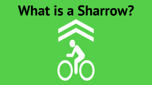 What is a Sharrow? title frame showing sharrow symbol