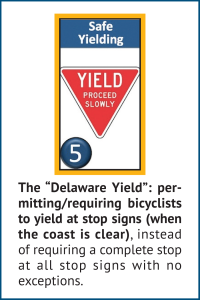 excerpt from BikeNewark's BFDA brochure that highlights safe yielding