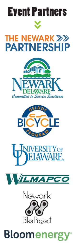 Event Partners: The Newark Partnership, City of Newark, DelDOT, UD, WILMAPCO, Newark Bike Project, Bloom Energy