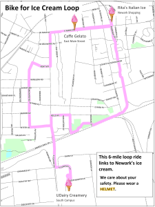 Bike for Ice Cream route map