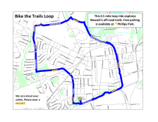 """Bike the Trails"" route map"