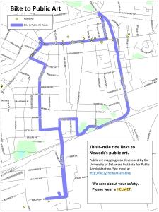 """Bike to Public Art route map"